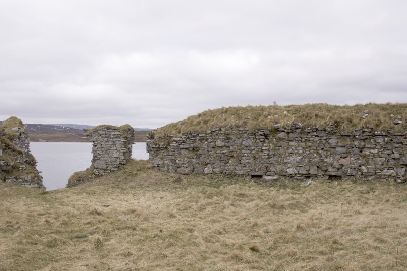 SW turret, view from centre of courtyard (panorama image 25)