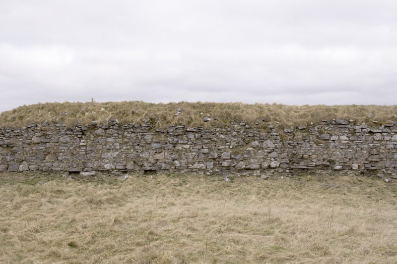 W wall, view from centre of coourtyard (panorama image 27)