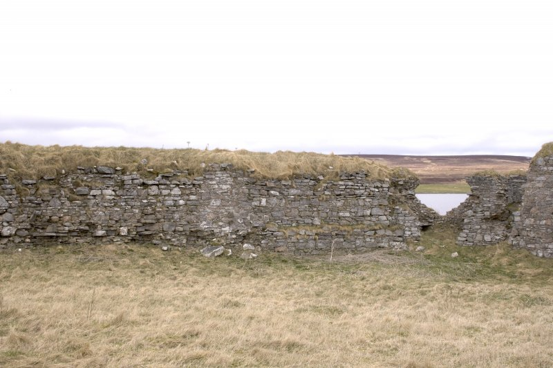NW turret, view from centre of courtyard (panorama image 30)