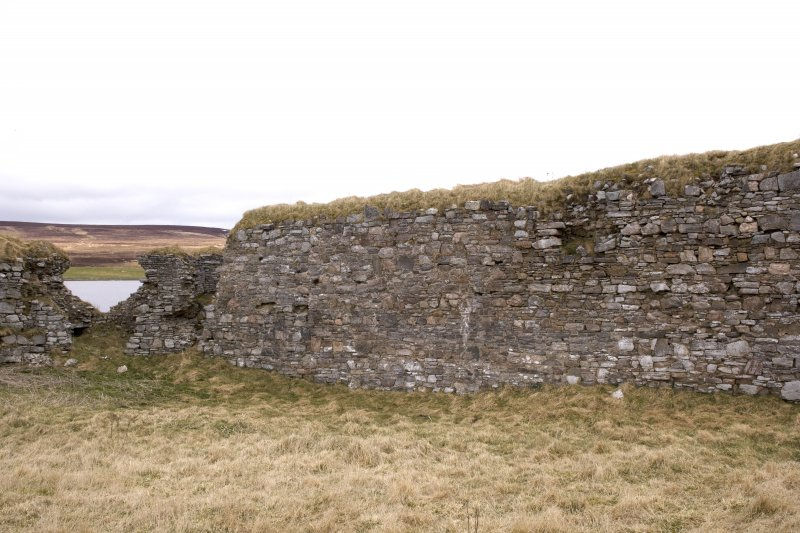 N wall, view from centre of courtyard (panorama image 33)