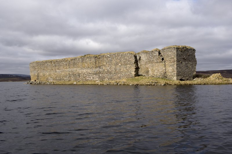 E wall, view from loch to NE