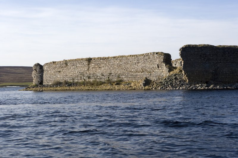 S wall, view from loch to SE