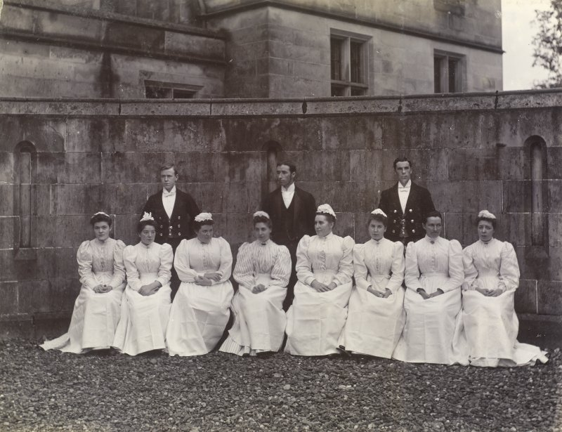 View of group of servants at St Fort House.