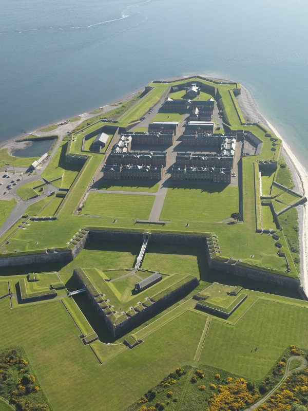 Oblique aerial view of Fort George, taken from the NE.