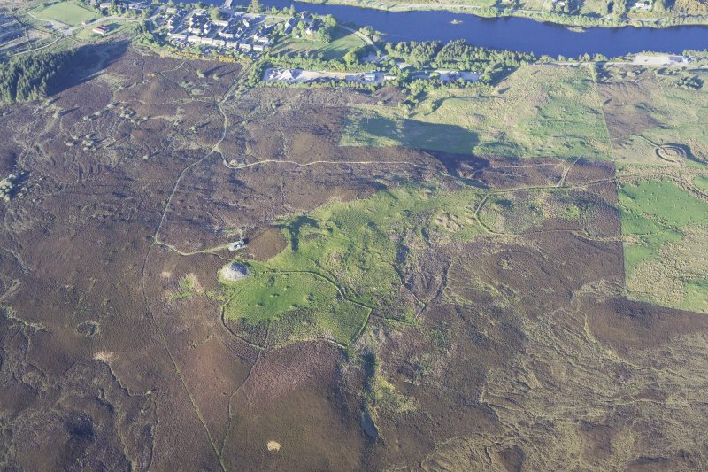 General oblique aerial view of The Ord, Lairg, taken from the W.
