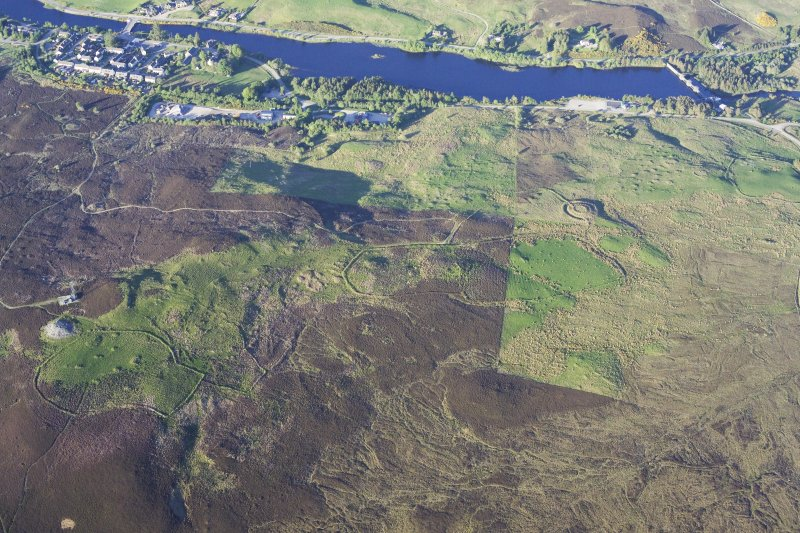 General oblique aerial view of The Ord, Lairg, taken from the WSW.