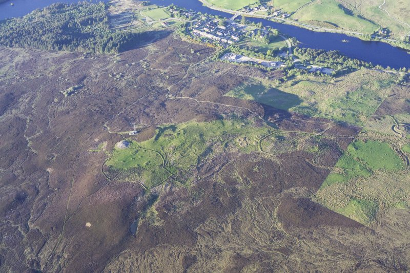 General oblique aerial view of The Ord, Lairg, taken from the SW.