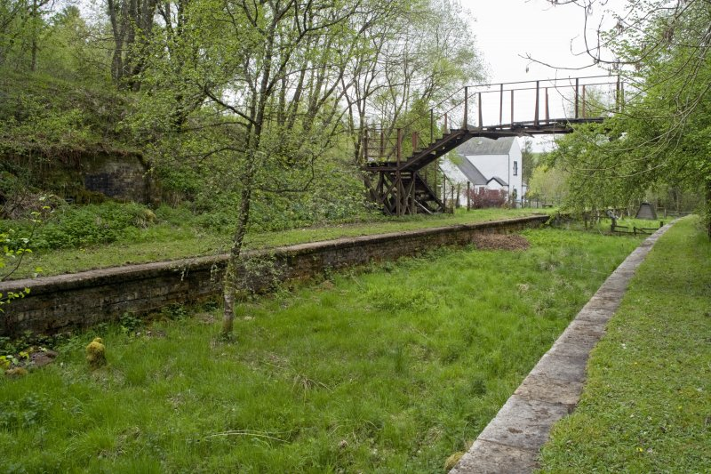 View from SSE showing platforms, footbridge and station masters house.