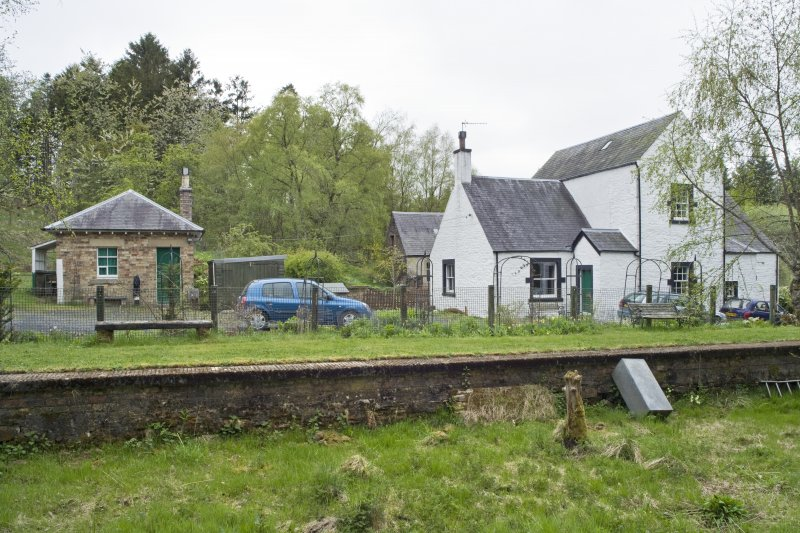 View from ENE of station masters house with the ticket office.