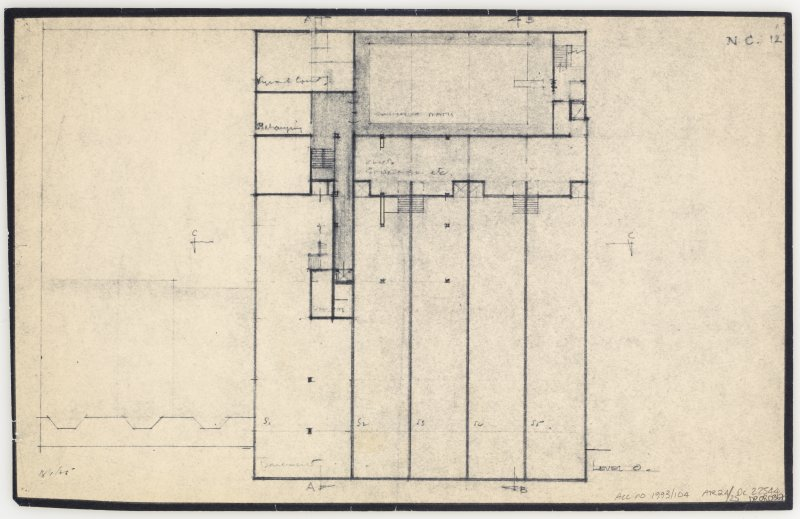 86 Princes Street, New Club. Plan of level 0. Insc: 'Level 0'  'N.C. 12.'