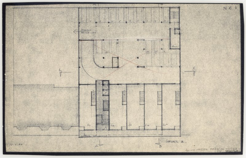 86 Princes Street, New Club. Plan of level 2. Insc: 'Level 2'  'N.C. 9.'