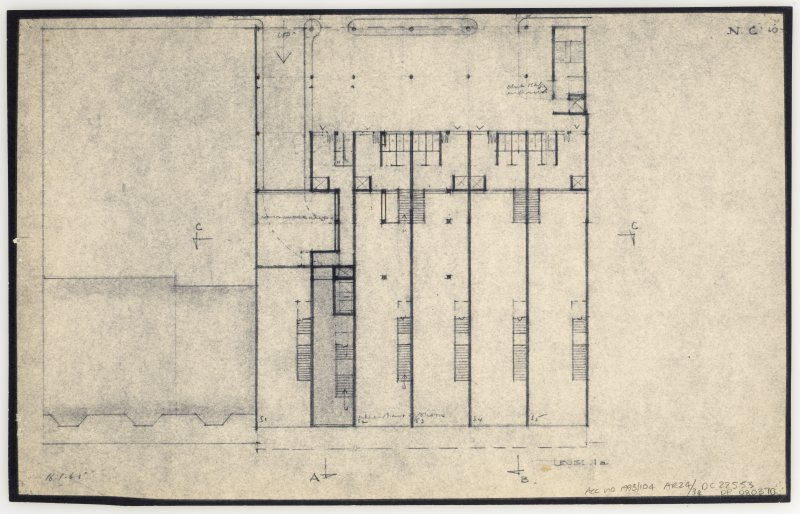 86 Princes Street, New Club. Plan of level 1a.' Insc: 'Level 1a'   'N.C. 10.'