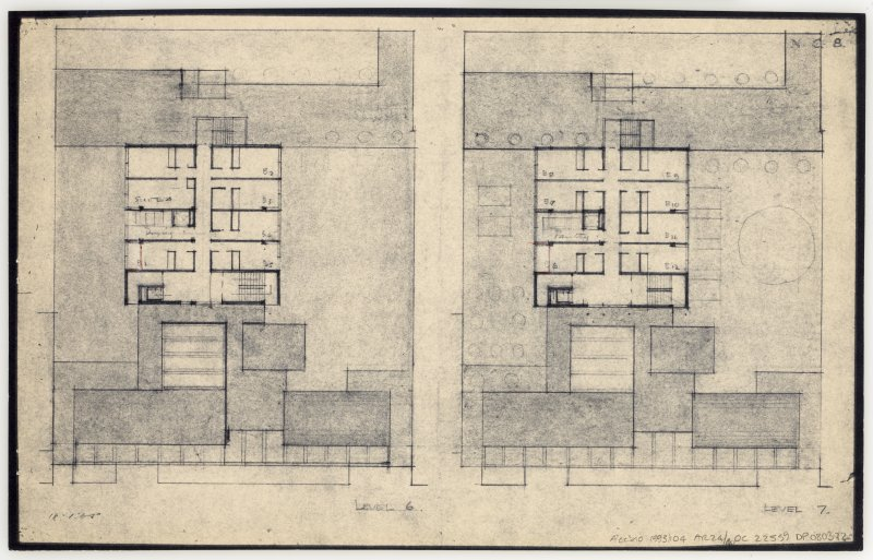 86 Princes Street, New Club. Plans of level 6 and 7. Insc: 'Level 6'  'Level 7'   'N.C. 8.'