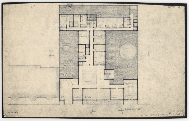 86 Princes Street, New Club. Plan of level 4. Insc: 'Level 4'  'N.C. 6.'