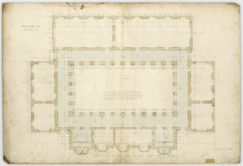 Plan of ground story. With measurements. (Wm.Burn) 131 George St.Edin.1831