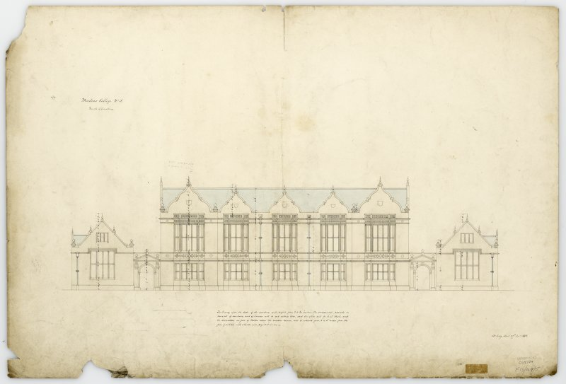 N.elevation. With measurements (Wm.Burn) 131 George St.Edin.1831