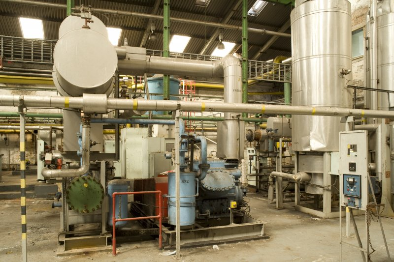 Interior. Carbon Dioxide (CO2) plant, view from S