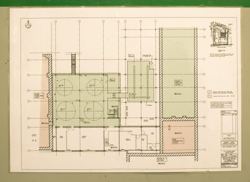 Interior. Mash house, detail of floor plan diagram