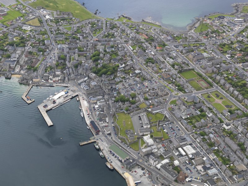 Oblique aerial view of Lerwick, looking to the S.