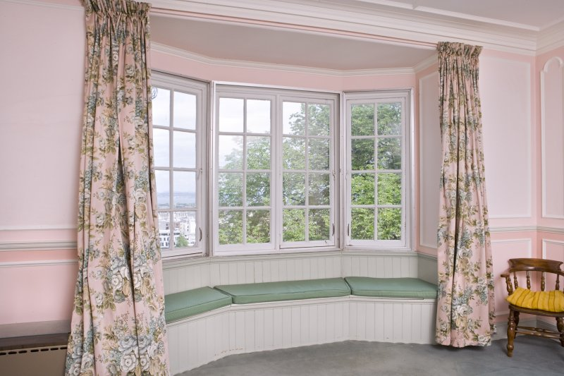 Interior. View of north facing bay window in rear drawing room