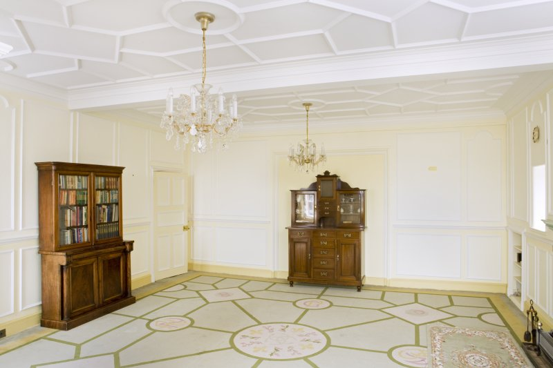 Interior. View looking into the north west corner of the main drawing room