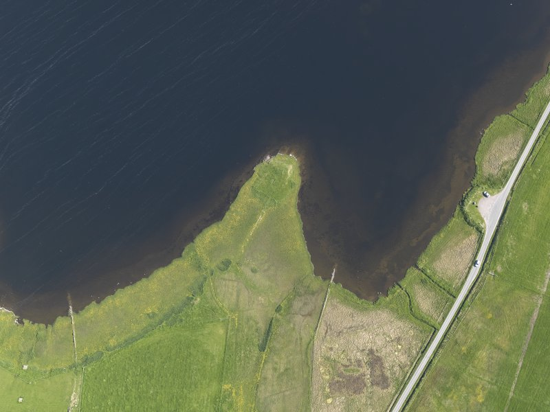 Oblique aerial view centred on the Law Ting Holm, taken from the N.