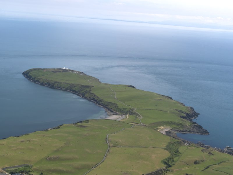 General oblique aerial view of the Mull of Galloway, taken from the NNW.