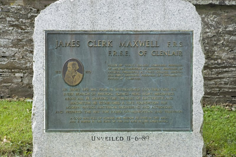 James Clerk Maxwell memorial. Detail