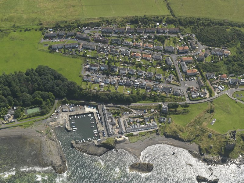 Oblique aerial view of Dunure village, taken from the W.