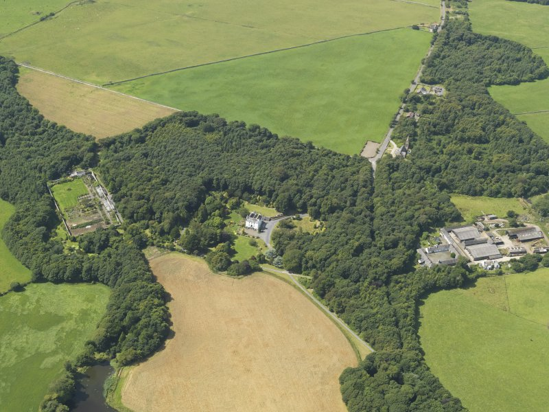 General oblique aerial view of Ardwell House, taken from the E.