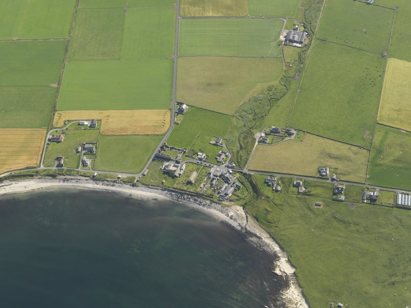 General oblique aerial view of Birsay, taken from the WSW.