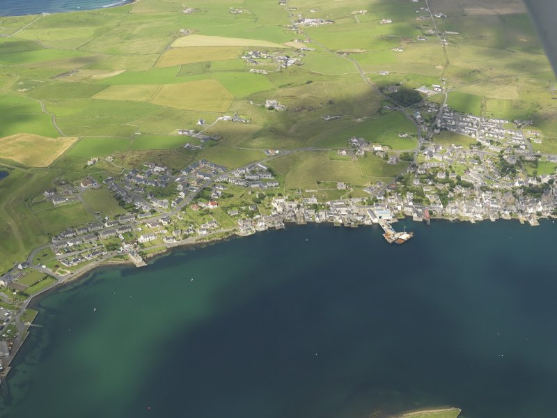 General oblique aerial view of Stromness, taken from the SE.