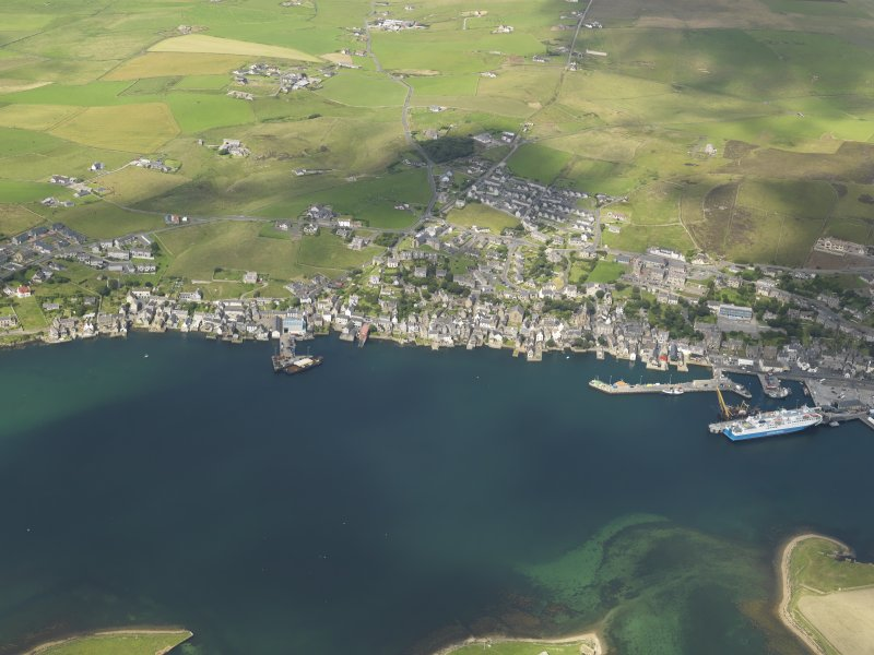 General oblique aerial view of Stromness, taken from the E.