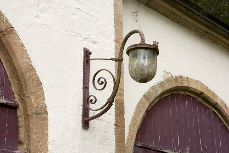 Detail of wall lamp