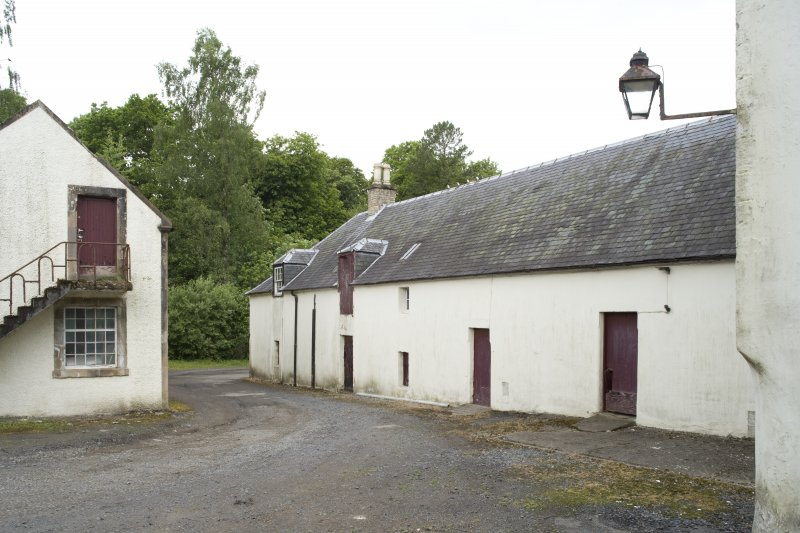 Byre and kiln, view from courtyard to SE