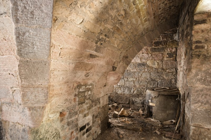 Interior. Kiln, view of  vaulting