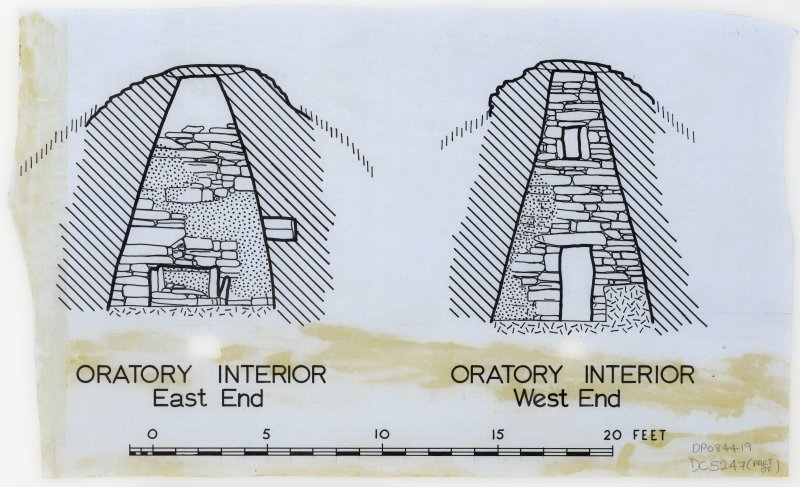 "Publication drawing, Sections of Nave & Oratory interiors, (7 parts), Ink, 5"":10ft, HW83SW 1"