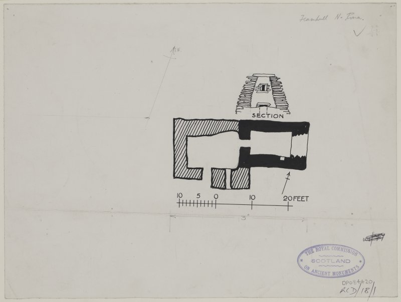 Publication drawing; North Rona chapel.