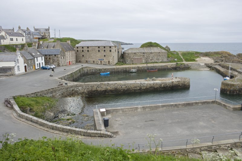 Old harbour, Portsoy, general view from ESE