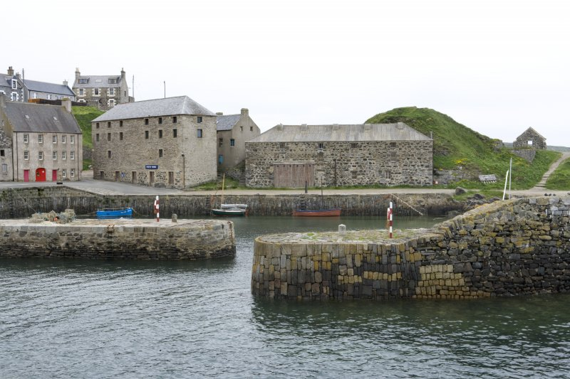 Old harbour, Portsoy, view from E