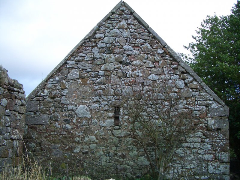 Threipmuir: W gable of S range