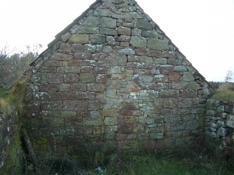 Threipmuir: E gable of long range (rebuilt W gable of unit G)