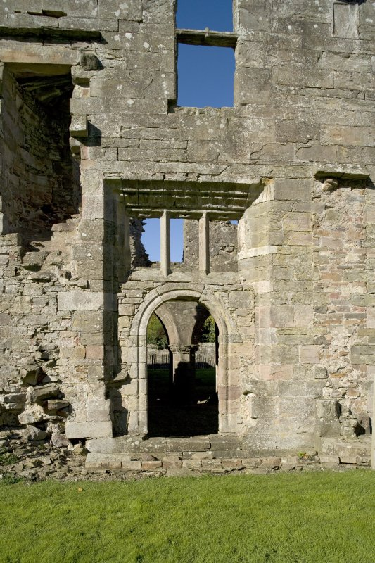 Chapter house, E entrance, general view from E