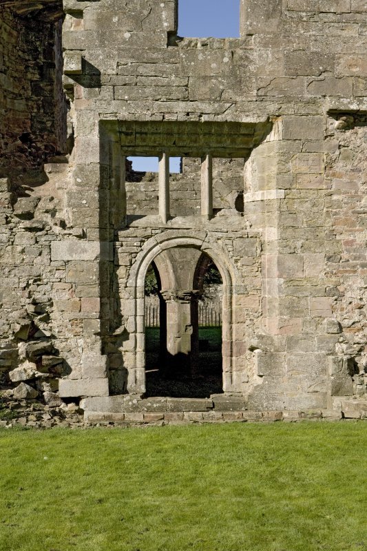 Chapter house, E entrance, view from E