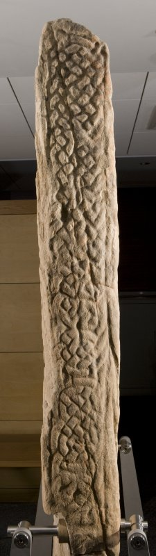 Detail of edge of cross slab with interlace pattern