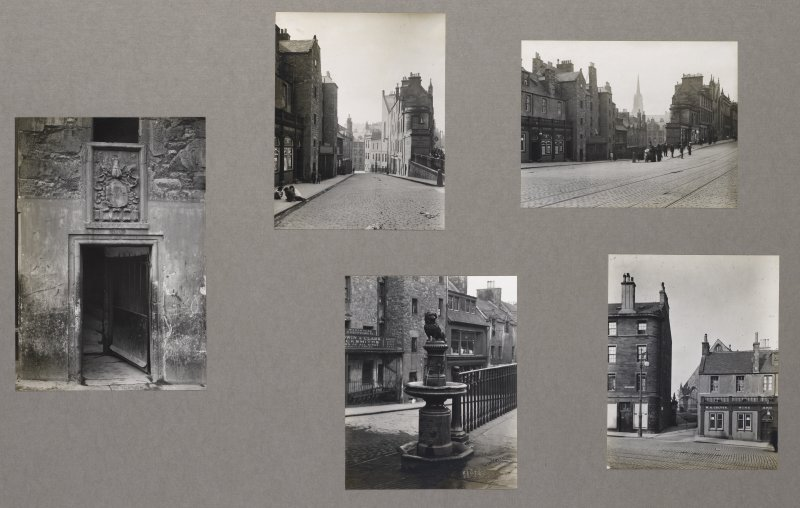 Card folder containing photographs of Candlemaker Row. Front cover has pencil notes describing the photographs inside.  Edinburgh Photographic Society Survey of Edinburgh and District, Ward XIV George Square