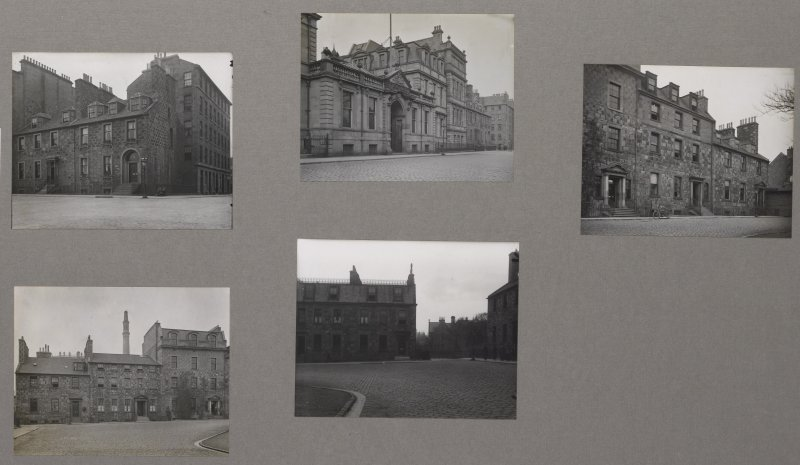 Card folder containing photographs of George Square. Front cover has pencil notes describing the photographs inside. Edinburgh Photographic Society Survey of Edinburgh District, Ward XIV George Square ...