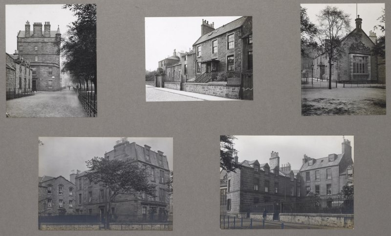 Card folder containing photographs of East Meadows and Meadow Lane. Front cover has pencil notes describing the photographs inside. Edinburgh Photographic Society Survey of Edinburgh District, Ward XIV George Square.