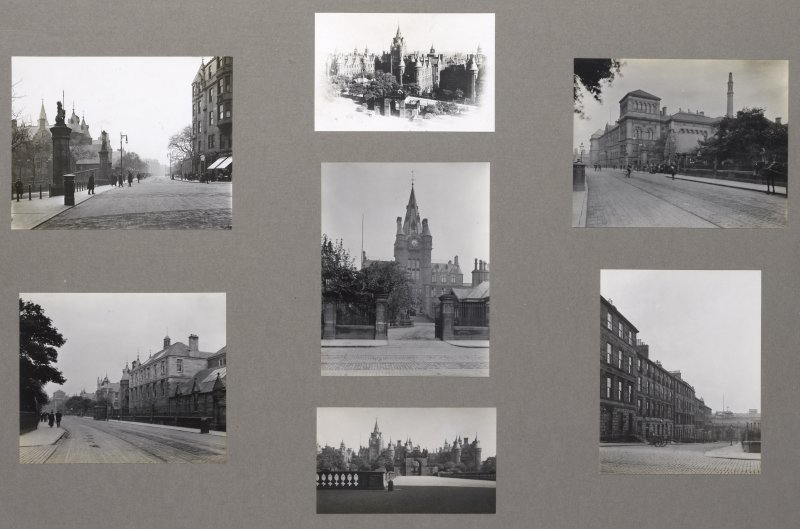 Card folder containing photographs of Lauriston Place, Royal Infirmary  and Archibald Place. Front cover has pencil notes describing the photographs inside. Edinburgh Photographic Society Survey of Edinburgh District, Ward XIV George Square.