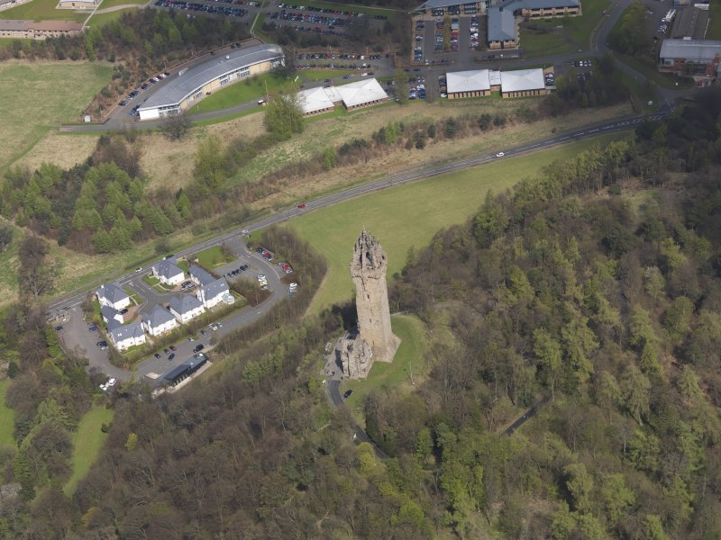 Oblique aerial view of the Wallace Monument, taken from the WSW.